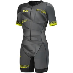 Alé Cycling Triathlon Hawaii Unitard Manga Corta Hombre, black